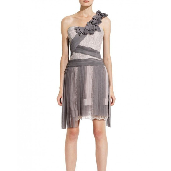 BCBG MAXAZRIA Runway Pleated Bare Pink 8 #352 Dresses & Skirts - BCBG MAXAZRIA Runway Pleated Bare Pink 8 #352